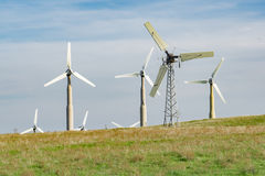Veraltete Windkraftanlagen Stockbild