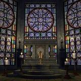 Veralteter Altar oder Heiligtum in einer Fantasieeinstellung Lizenzfreies Stockbild