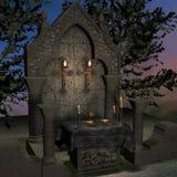 Veralteter Altar oder Heiligtum in einer Fantasieeinstellung Lizenzfreies Stockfoto
