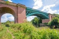 Veralteter Bahnviadukt an Stamford-Brücke, Yorkshire lizenzfreie stockbilder