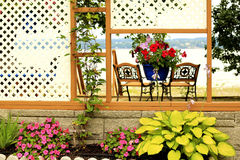 Veranda at �le d Orléans,Quebec Royalty Free Stock Photography