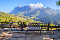 Veranda bei Chiang Dao Mountain Stockbilder