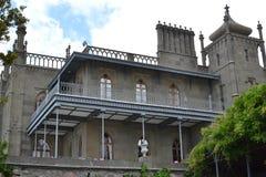 Veranda in the castle Stock Images