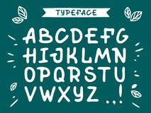 Veranda cursive font. Vector alphabet with latin letters in green theme.  royalty free illustration