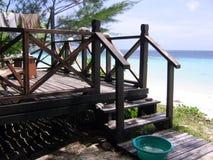 Veranda dalla spiaggia Immagini Stock Libere da Diritti