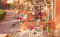Veranda of Egyptian resort Royalty Free Stock Image