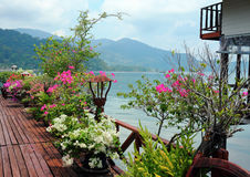 Veranda in the fishing village of Bang Bao tropical island of Ko Stock Photo