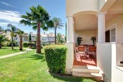 Veranda and garden terraces. Royalty Free Stock Photography
