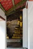 Veranda of Gild Buddha Sculptures at Wat Suthat, Bangkok of Thailand. Veranda of hundreds gild Buddha sculpture is a landmark of Wat Suthat is a great temple at Stock Photography