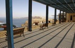 Veranda Mediterranean. Looking out over the mediterranean Stock Photo
