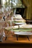 Veranda restaurant seating area table setting Royalty Free Stock Photo
