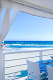 Veranda by the Sea Stock Photos