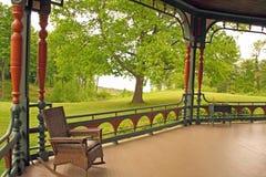 Veranda, sito storico di Wilderstein, uomo vittoriano di stile 1800's Immagini Stock Libere da Diritti