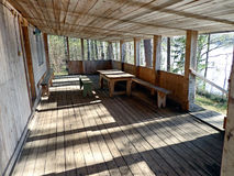 Veranda. Of the wooden village house Royalty Free Stock Photo