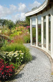 Verandah with beautiful garden Royalty Free Stock Images