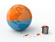 Verander de wereld. Stock Foto's