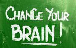 Verander uw hersenenconcept Stock Afbeelding