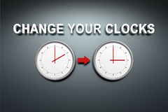 Verander uw klokken royalty-vrije illustratie