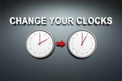 Verander uw klokken vector illustratie