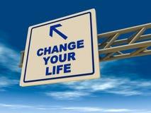 Verander uw leven Stock Foto's