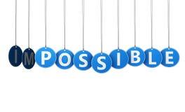 Veranderen Onmogelijk in Mogelijk Stock Afbeeldingen