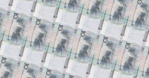 Veranderend Chinees bankbiljettenpatroon van 10 en 20 Yuans stock illustratie