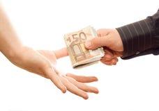 Veranderend geld Stock Foto
