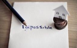 Veranderend het woord onmogelijk tot mogelijk stock foto's