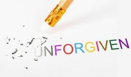Veranderend het woord unforgiven aan vergeven royalty-vrije stock fotografie