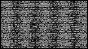 Veranderende binaire hexuitdraaicode inzake computerscherm die, chaotically veranderen Gegevensoverdracht via netwerk en cyber ve stock video