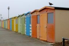 Veranderende cabines in Brighton Stock Foto