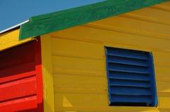 Veranderende hut in Muizenberg Stock Afbeeldingen