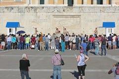 Veranderende Wacht Athens stock afbeelding
