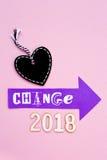 Verandering - 2018 Stock Afbeelding