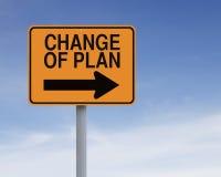 Verandering van Plan stock afbeelding