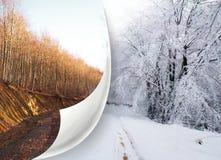 Verandering van seizoenen Royalty-vrije Stock Afbeeldingen