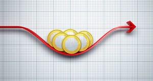Veranderingen in de euro wisselkoers Royalty-vrije Stock Afbeelding