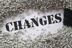 Veranderingen -- de reeks van het schatwoord stock afbeeldingen