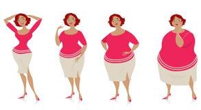 Veranderingen van grootte na dieet Stock Afbeeldingen
