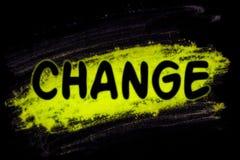 Veranderingswoord met gloedpoeder stock illustratie