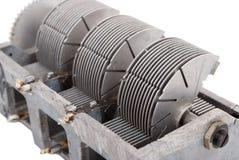 Veranderlijke condensator stock afbeeldingen
