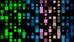 Veranderlijke veranderende vierkanten in diverse kleuren stock illustratie
