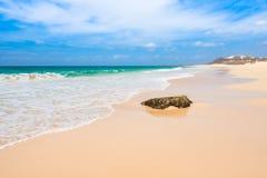 Verandinha beach Praia de Verandinha  in Boavista Cape Verde Stock Image