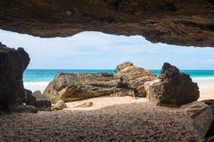 Verandinha beach Praia de Verandinha  in Boavista Cape Verde Stock Images