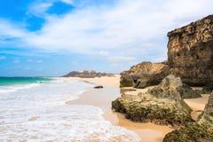 Verandinha beach Praia de Verandinha  in Boavista Cape Verde Royalty Free Stock Photo