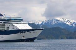 Verankerde het Schip van de cruise stock fotografie