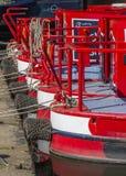 Verankerte narrowboats Lizenzfreies Stockfoto