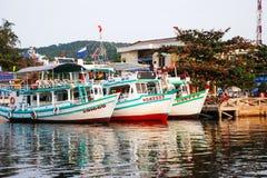 Verankerung der Boote Lizenzfreie Stockfotos