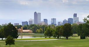 Verano 2010 del horizonte de Denver Foto de archivo libre de regalías