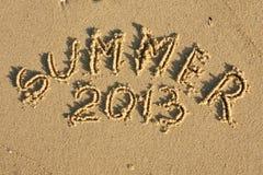 Verano 2013 de la inscripción Foto de archivo libre de regalías